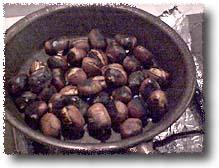 Chestnuts Roasting: Note foil lining burner well