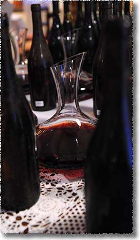 A Decanter at a Wine Tasting