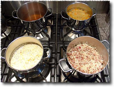 Making Risotto: Saute the Rice