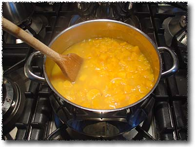 Adding the Squash Mixture to the Risotto