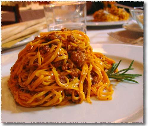 Tagliatelle with Sugo alla Bolognese