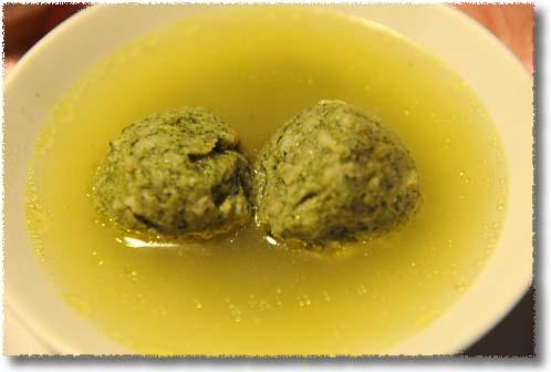 Spinach Canederli in Broth