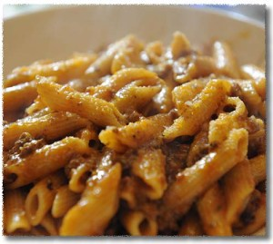Penne al Sugo, with Meat Sauce
