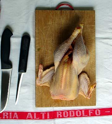 Boning a chicken: Begin!