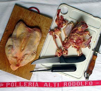 Boning a chicken: Done!