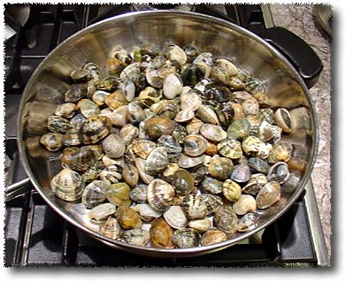 Preparing Live Clams: In a Skillet