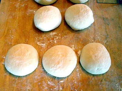Balls of Pizza Dough Ready to be Stretched
