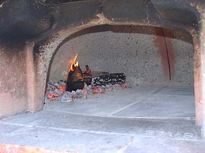 The Pizza Oven is Hot