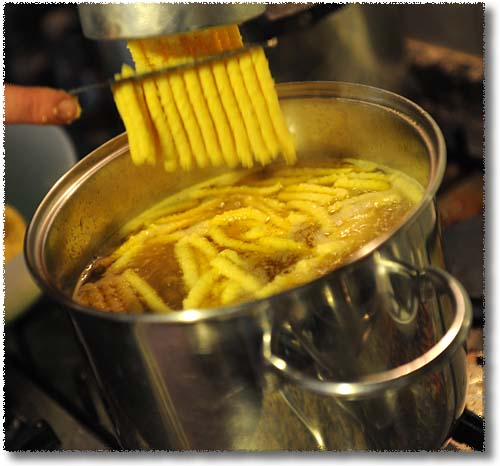 Making Passatelli: Cut Them Free