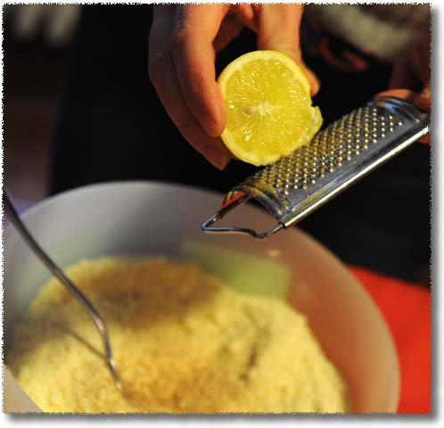 Making Passatelli: Add Lemon & Nutmeg