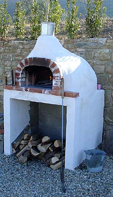 A Wood Fired Pizza Oven