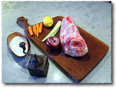 Roast Veal Shank: The Ingredients