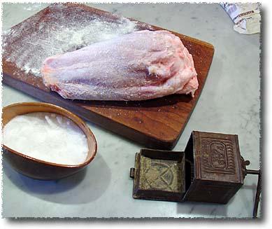 Roast Veal Shank: Seasoning the Meat