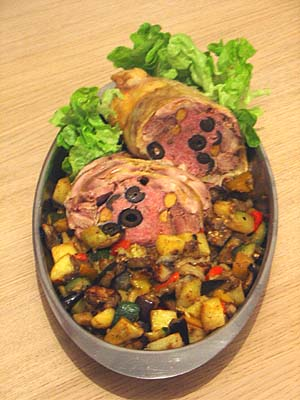 Stuffed Boned Chicken, with Caponata: Enjoy!