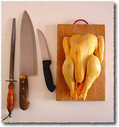 To Chop a Chicken: Begin