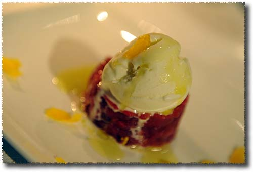Beef Tartare with Olive Oil Ice Cream at the Gaudenzi Dinner