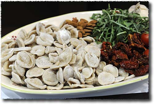 Orecchiette and the Ingredients for a Sauce