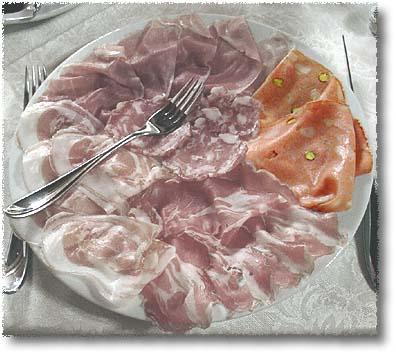 A Platter of Affettati Mist: Mortadella di Bologna