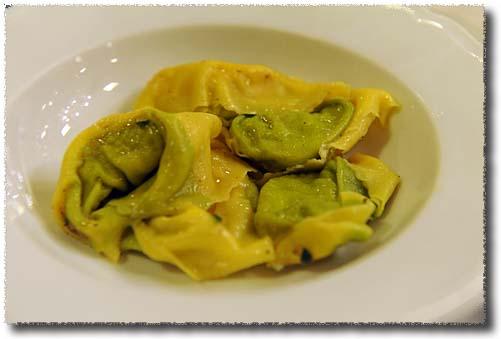 Ristorante alla Borsa Tortelli With Artichokes and Pecorino