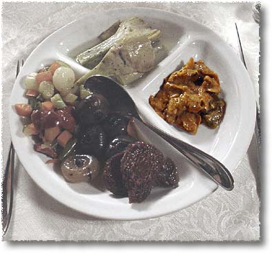 A Vegetarian Antipasto Misto: Stewed Mushrooms