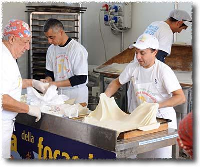Focaccia di Recco: Spreading the Lower Sheet of Dough