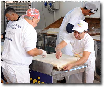 Focaccia di Recco: Laying Down the Top Sheet