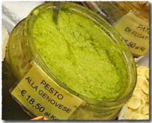 Pesto Alla Genovese in an Italian Market