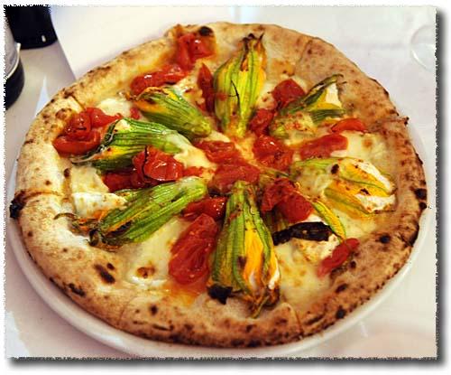 Giovanni Santarpia's Stuffed Zucchini Blossom Pizza